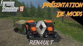 getlinkyoutube.com-Farming simulator 2015| Présentation Renault Arès 610 RZ/Arès 715 RZ/Claas Rollant 250