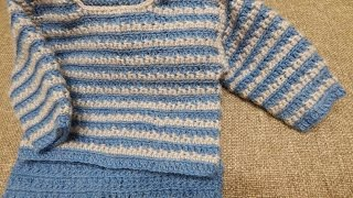 getlinkyoutube.com-Sueter para Bebe Crochet parte 1 de 2