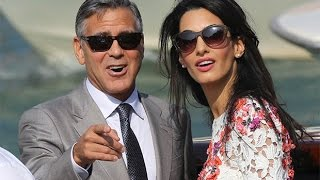 getlinkyoutube.com-Newly-weds George Clooney and Amal Alamuddin make first appearance since marriage