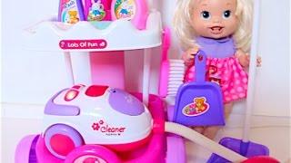 getlinkyoutube.com-لعبة المكنسة الكهربائية وأدوات التنظيف  العاب بنات و أولاد  Vacuum Cleaner Toys Playset for Kids