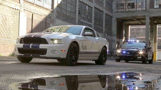 getlinkyoutube.com-2013 Ford Shelby GT500 vs Cop Cars: Police Chase! - The Downshift Episode 17