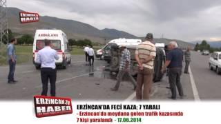 Erzincan'da Trafik Kazası; 7 Yaralı