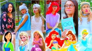getlinkyoutube.com-If Disney Princesses Went to School: DIY Last Minute Halloween Costumes