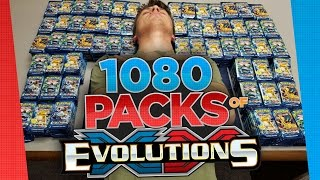 getlinkyoutube.com-Pokemon Cards 1080 Booster Pack Opening of XY Evolutions - Largest Pokemon Card Opening So Far!