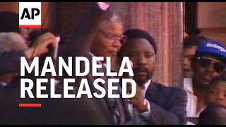 Nelson Mandela Released From Prison - 1990