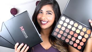 getlinkyoutube.com-NEW Morphe EYESHADOW Palettes: Review & Swatches!