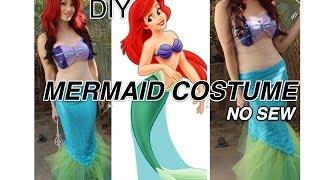 getlinkyoutube.com-Ariel Little Mermaid DIY COSTUME *No Sew and Around $20*