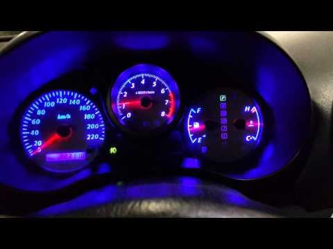 Новая led подсветка приборной панели Тойота Рав4 2003