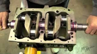 getlinkyoutube.com-Classic Mini - Fitting the crankshaft and checking the endfloat on A+ block