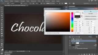Tutorial Online Photoshop CC - Efeito texto de chocolate