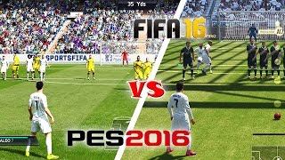 getlinkyoutube.com-FIFA 16 vs. PES 16: Free Kicks