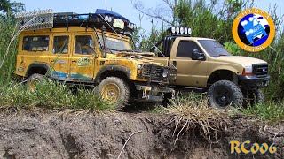 getlinkyoutube.com-Offroad Expedition 4x4 - Ford 350 Pajero Landrover Defender - RC Scale Trohpy - CTC - RC 006