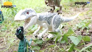 getlinkyoutube.com-LEGO Jurassic World Indominus Rex Breakout - Lego 75919, 75917 RC review by 뿡대디