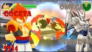 getlinkyoutube.com-Dbz Tag Team Tenkaichi Mod goku SSJ4 And Vegeta SSJ4 Fuson Gogeta SSJ4 VS Omega Shenron HD 1080p