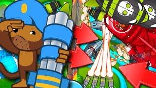 getlinkyoutube.com-Bloons TD Battles  :: EPIC LATE GAME :: DEFENDING Z.O.M.G. :: MAX DARTLING GUNNER!