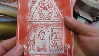 getlinkyoutube.com-Inked & stamped embossing folder cards + Christmas cards and tags