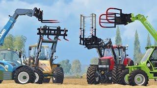 getlinkyoutube.com-Farming Simulator 15 CSZ Bale Claw + Pallet Fork Set