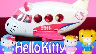 getlinkyoutube.com-Cartoon Hello Kitty Airlines Playset Airplane Toys Review by Disney Cars Toy Club