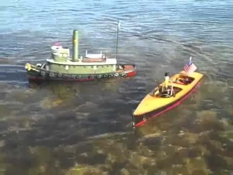 Three R/C Steamboats Underway on Peconic Bay