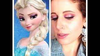 getlinkyoutube.com-Makeup Tutorial Trucco FROZEN  ELSA