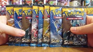 getlinkyoutube.com-8 Pokemon Sun and Moon Booster Pack Opening