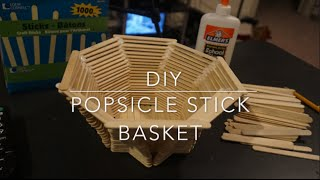 getlinkyoutube.com-DIY - Popsicle Stick Basket
