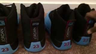 getlinkyoutube.com-Jordan 12 Gamma Blue - Real vs. Fake