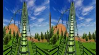 getlinkyoutube.com-3D Active/Passive -  Roller Coaster - Test 3D Side by Side