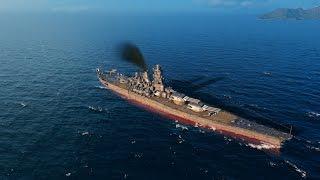 getlinkyoutube.com-World Of Warships - IJN Yamato vs USS Montana