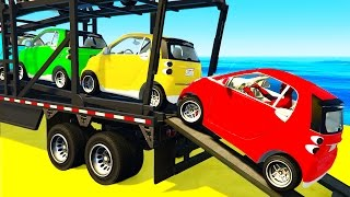 Small CARS Transportation and Spiderman in Funny Cartoon for Children and Kids Nursery Rhymes