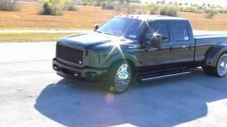"getlinkyoutube.com-American Force Wheels Ford 350 Black with 26"" Titan Wheels Low Profile."