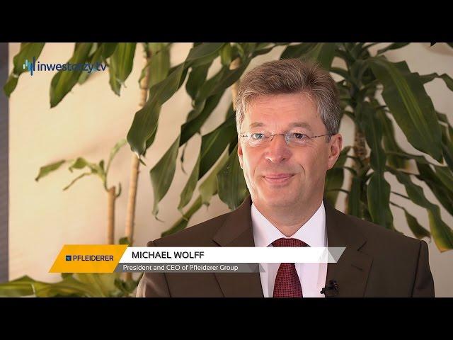 Pfleiderer Group, Michael Wolff - President, CEO, #49 PREZENTACJE WYNIKÓW