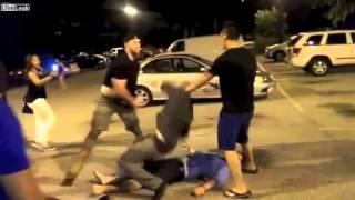 酒吧門外打交, 中一拳已KO