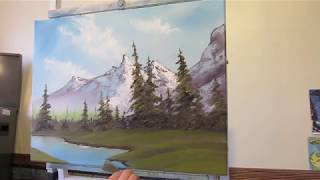 getlinkyoutube.com-Mountain Scene Pt 3 Wet on Wet Painting Technique
