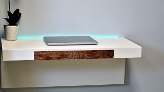 How to make a wall mounted desk with secret compartments