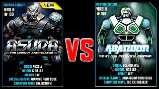 Real Steel WRB Asura VS Abandon NEW Robot updating (Живая Сталь)