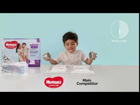 Huggies Ultra Dry Nappy Pants Boys Size 4 Toddler (9-14kg) - 29 Pack