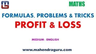 Formulas, Problems &Tricks : Profit & Loss - English Version