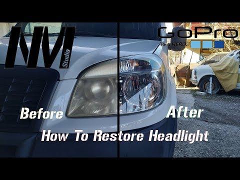How To Polish Headlight Fiat Doblo + Ceramic Protection   Kako Ispolirati Farove Fiat Doblo DIY