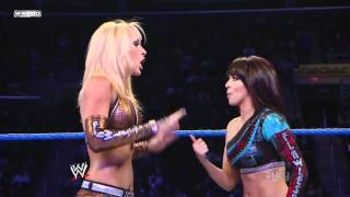 getlinkyoutube.com-Beth Phoenix & Rosa Mendes vs. Michelle McCool & Layla(LayCool)