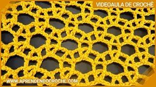 getlinkyoutube.com-Ponto de Crochê Rendado com Argolas - Aprendendo Crochê