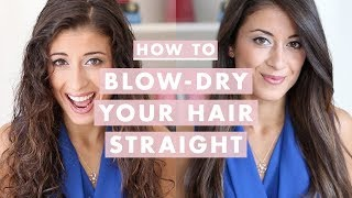 getlinkyoutube.com-How to Blow-Dry Your Hair Straight (Step-by-Step)