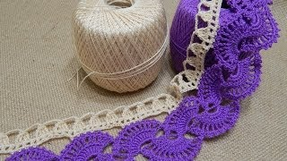 getlinkyoutube.com-Orilla # 14 Abanicos dos colores Crochet parte 2 de 2