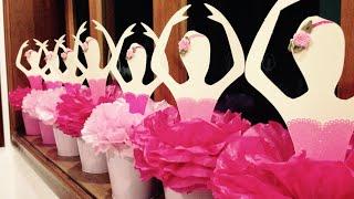 getlinkyoutube.com-Tutorial - Bailarina para centro de mesa com papel e pompom