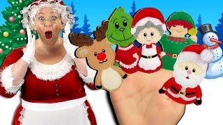 getlinkyoutube.com-Christmas Finger Family Song | Holidays Finger Family Nursery Rhyme for kids