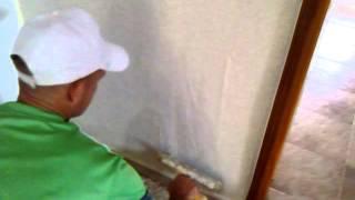 grafiado (.marmoplast )aplicando marmoplas poco a poco