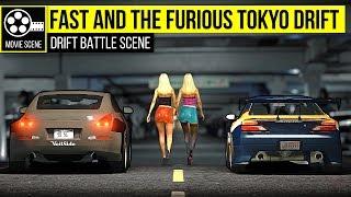 Grand Theft Auto 5 - Tokyo Drift: Nissan Silvia S15 vs Nissan 350z (Garage Scene)