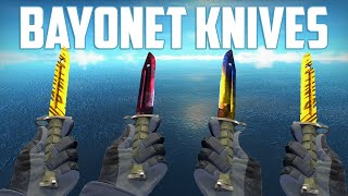 getlinkyoutube.com-CS:GO - Bayonet Knives - All Skins Showcase + Price | Все Скины Bayonet Knives + Цены