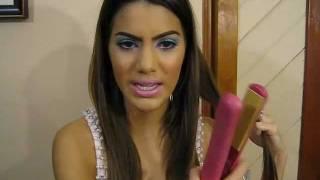 getlinkyoutube.com-Como Enrolar Cabelo com Pranchinha por Camila Coelho