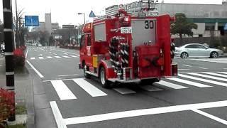 getlinkyoutube.com-福岡市消防局 消防車 出動のまとめ 3